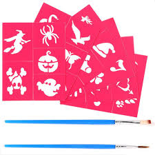 face paint kit for kids includes 30 popular stencils a carefully