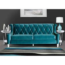 leather sofa with buttons sofa in blue velvet with crystal buttons