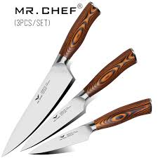 professional kitchen knives 3pcs set professional kitchen knives kits 8 chef knife 5inch