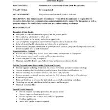 Sample Resume For Front Desk Receptionist by Front Desk Receptionist Cover Letter The Letter Sample