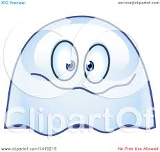 small halloween emoticons transparent background clipart of a goofy ghost emoticon royalty free vector