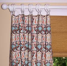 50 X 96 Curtains Curtains Orange Geometric Collection Two Drapery Panels 50 X 96