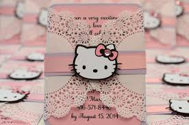 Hello Kitty Invitation Card Maker Free Hello Kitty Jingvitations