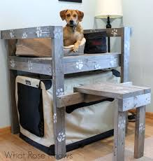 raised dog bed with stairs diy best stairs 2017