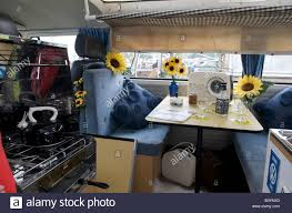 volkswagen westfalia camper interior volkswagen camper van interior stock photo royalty free image
