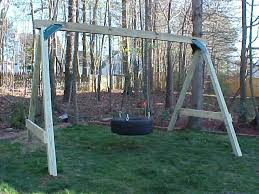 Swings For Backyard Tire Swing Kids Korner Playsets 919 730 3211