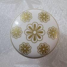 Porcelain Knobs For Kitchen Cabinets Shop Gold Dresser Knobs On Wanelo