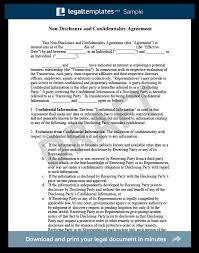Non Disclosure Statement Template by Non Disclosure Agreement Template Library Templates