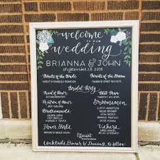 wedding program sign wedding chalkboard signage program wedding chalkboards