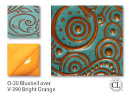 v 390 bright orange underglaze v velvet underglaze