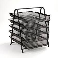 Paper Desk Organizer Mind Reader 5 Tier Steel Mesh Paper Tray Desk Organizer Black