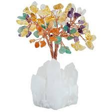 sunyik 4 inch mixed money tree rock quartz cluster