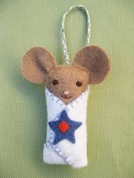 mouse ornament etsy felt mice ornament and