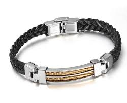 titanium bracelet men images Titanium steel bracelet braided bracelet men bangle men silver jpg