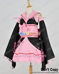 Sakura Halloween Costume Vocaloid 2 Cosplay Hatsune Miku Pink Sakura Kimono Dress Costume