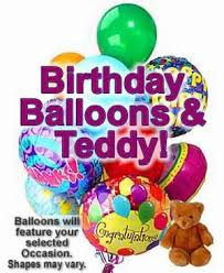 balloons and teddy delivery birthday balloons teddy deliver today balloon bouquet