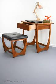 Retro Modern Desk Mid Century Modern Desk Table Drawer Console Stool Vintage