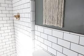 Modern Tiles For Bathroom Our Modern Subway Tile Bathroom Bright Green Door