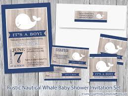s shower invitations nautical whale baby shower invitation designs