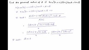 find the general solution of the following trigonometric equation