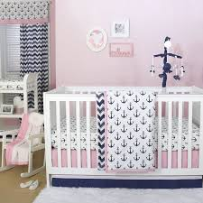 the peanut shell 4 piece baby crib bedding set navy blue and