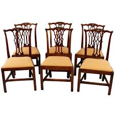 charming chippendale dining room table and mahogany chairs best