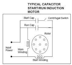 capacitor start run motor connection diagram in starting wiring