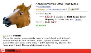 Horse Head Mask Meme - uhpinions funny reviews from yelp etc real
