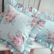 Shabby Chic Cushions by Shabby Chic Blue Rose Curtain Blue Roses Shabby And Rose