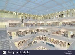 stuttgart city library gallery hall with stairs stadtbibliothek am mailänder platz