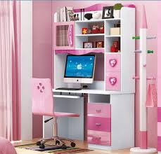Pink Corner Desk Computer Desk With Pink Office Chair And Coats Hooks And