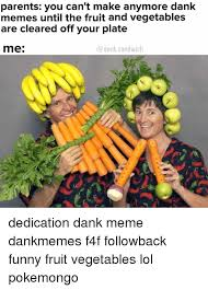 Vegetable Meme - parents you can t make anymore dank memes until the fruit and