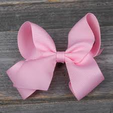 pink hair bow small hair bow smocked auctions