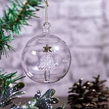 personalised glass christmas tree bauble buy from prezzybox com