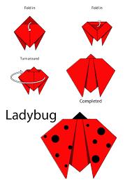 how to make a origami ladybug easy origami instructions ladybug