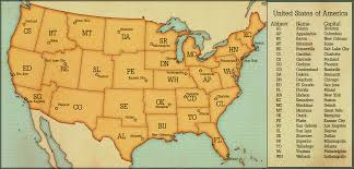 Map If Usa States by Map Of United States With Capitals