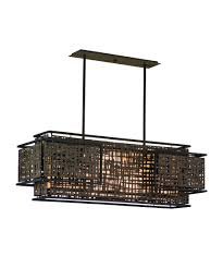 Rectangular Island Light Corbett Lighting 105 54 Shoji 38 Inch Wide Island Light Capitol