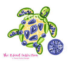 preppy sea turtle clip art preppy pink sea urchin clip art