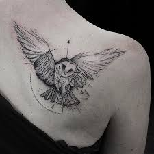 best 25 geometric owl tattoo ideas on pinterest geometric owl
