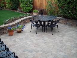 interior stone exterior patio flooring options with round table