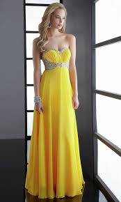 prom dresses in yellow long dresses online