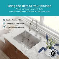 Single Undermount Kitchen Sinks by Stainless Steel Kitchen Sinks Kraususa Com