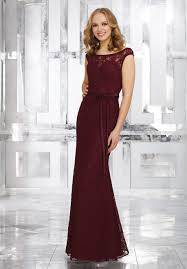 lace bridesmaid dresses lace bridesmaids dress with matching satin tie sash style 21545