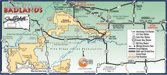 badlands national park map badlands national park map south dakota map travel