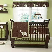 Green Elephant Crib Bedding Green Elephant 5 Baby Crib Bedding Set With
