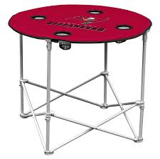 Folding Table by Amazon Com Arizona Cardinals Collapsible Round Table With 4 Cup