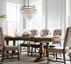 Dining Room Table Chandeliers Gemma Crystal Round Chandelier Pottery Barn