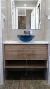 Wall Mounted Bathroom Mirror 750mm Square Frameless Pencil Edge Wall Mounted Bathroom Mirror