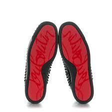 christian louboutin mens calfskin louis spikes flat sneakers 45 5