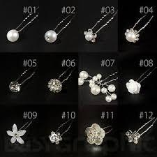 bridal hair pins bridal hair pins rhinestone pearl diamante flower slide